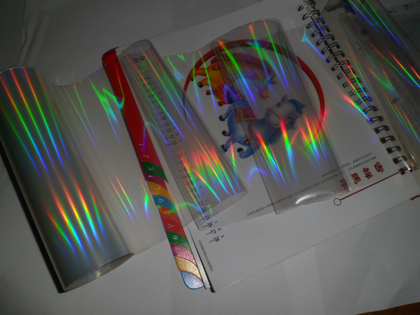 UV holographic transfer film
