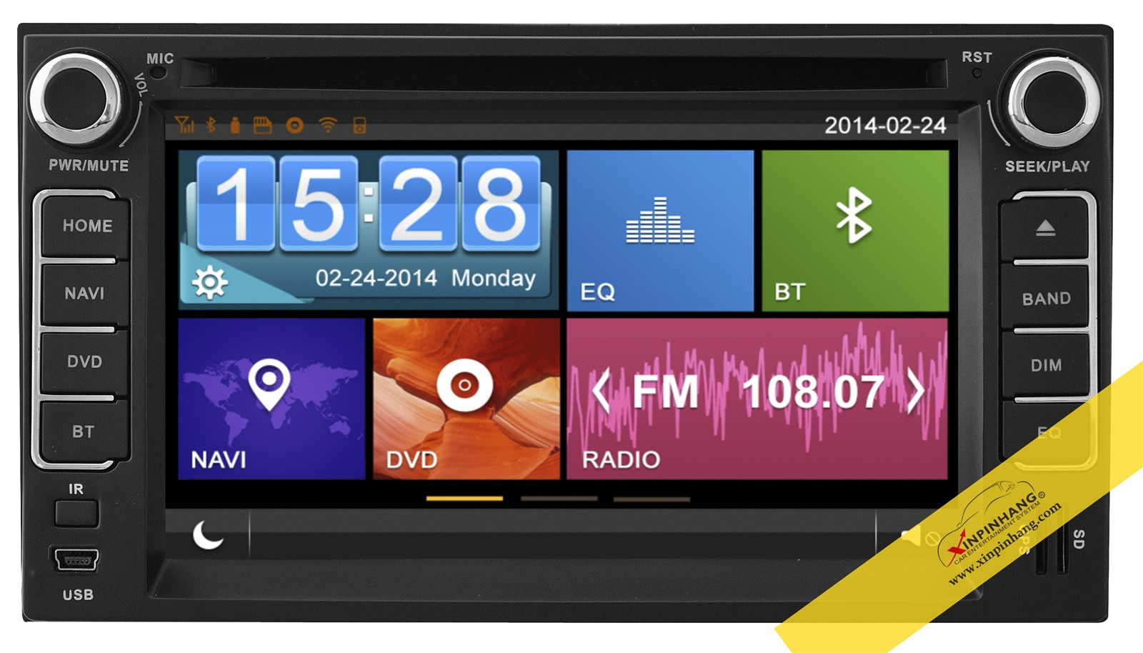 capacitive touch screen car dvd player for kia cerato with 3g/wifi