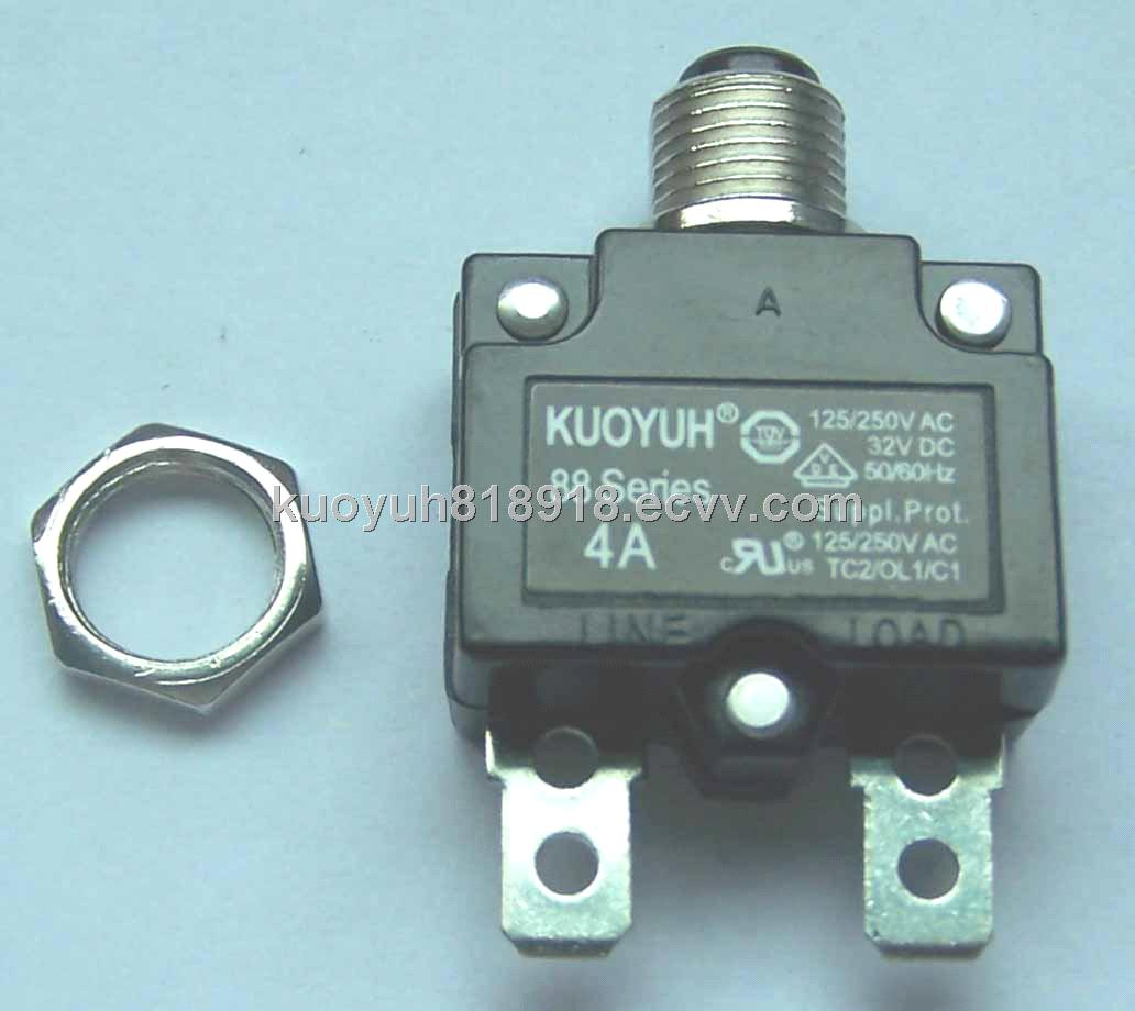4A manul reset circuit breaker for plug switch with protect function ...