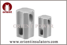 Porcelain guy strain insulators