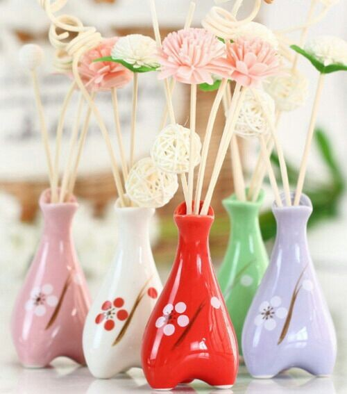 Ceramic Diffuser Bottle with decal, reed diffuser