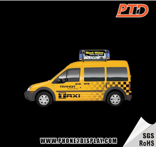 LED taxi roof advertising display