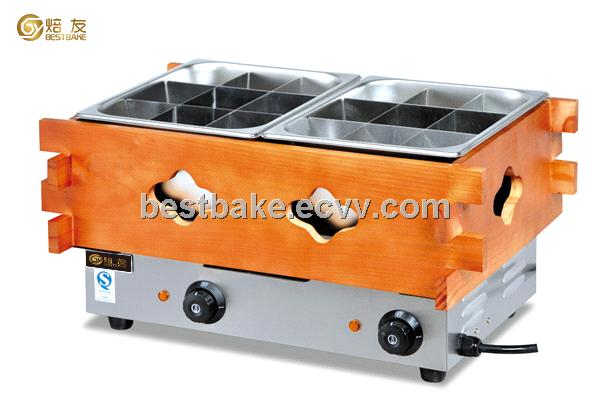 Stainless steel electric 2-tank Donut Fryer/Oden Machine(BY-EH20)