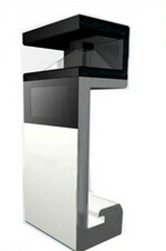 360degree pyramid hologram display showcase 3D holographic box in 35inch for jewerlly, watch
