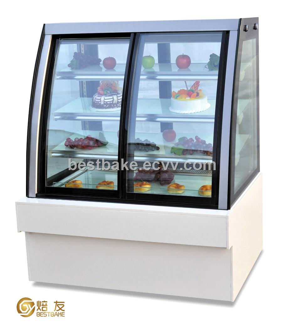 Luxury free standing Front&back-door cake display showcase(BY-CF1200)