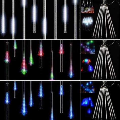 eu plug meteor shower rain amazing led tube string christmas xmas lights decoration tree