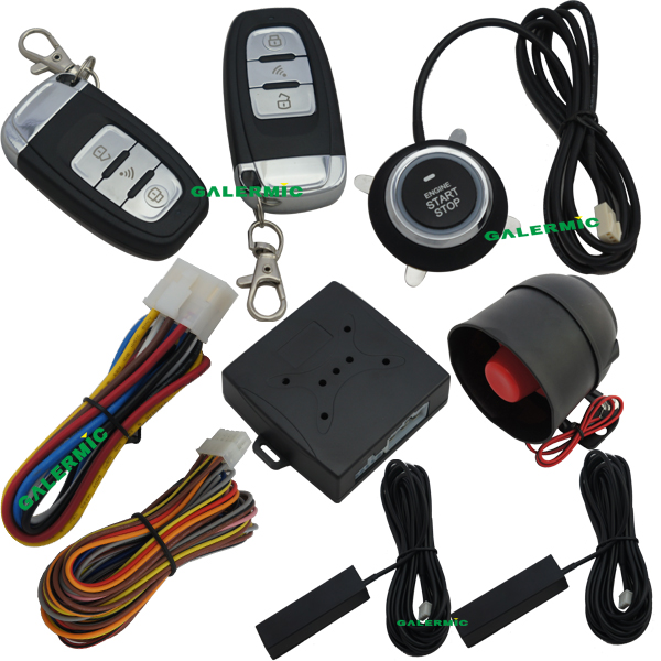 Push Start Car System With Pke Keyless Entry System Remote Start Car