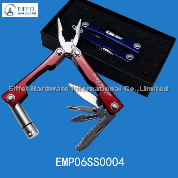 Mini Plier with LED torch&gift box packing /handle color can be customized (EMP06SS0004)