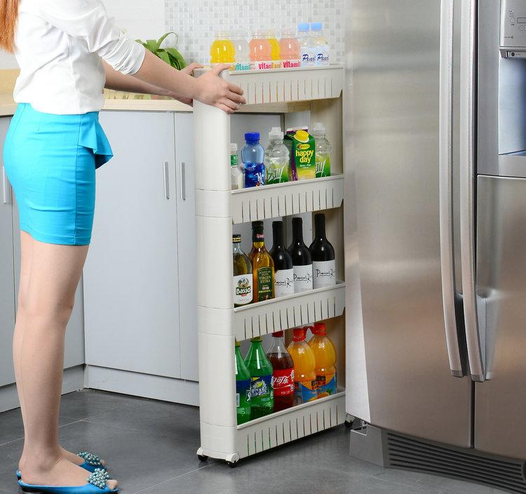 Jm Plastic Storage Shelf Mini Kitchen Rack Multiple Layers