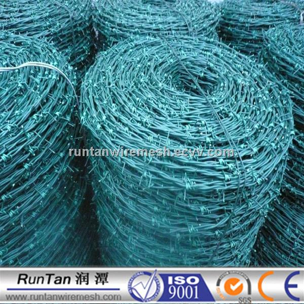 PVC coated galvanized Barbed wire double strand purchasing, souring ...