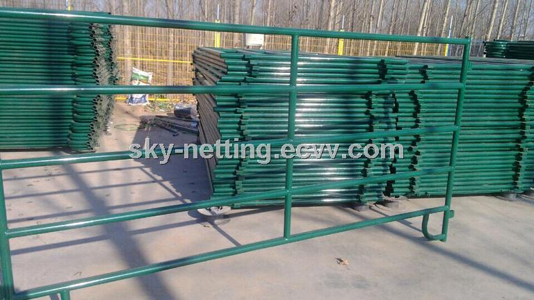 Green color powder coated portable horse fence panels purchasing ...