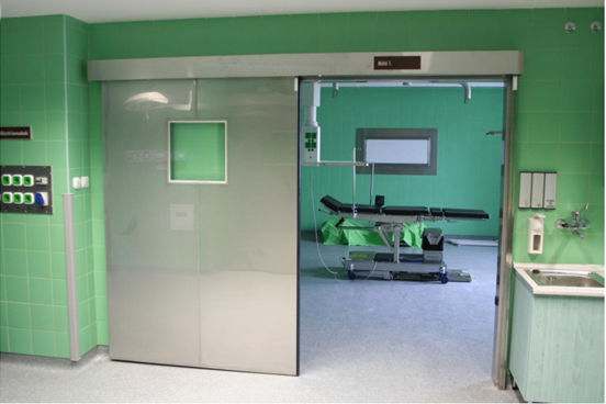 Automatic sliding door for hospital