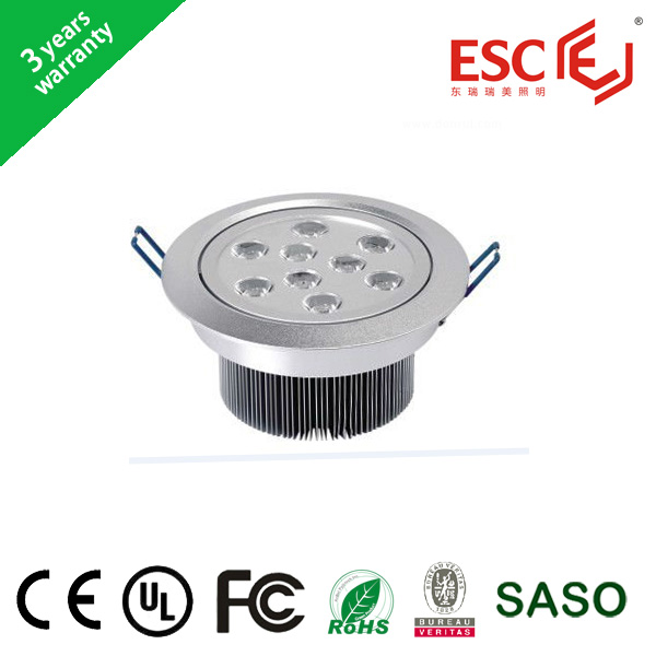 hot selling 7W 15W 18W AC85V-265V high quality led down ceiling light CE/Rohs/BV passed