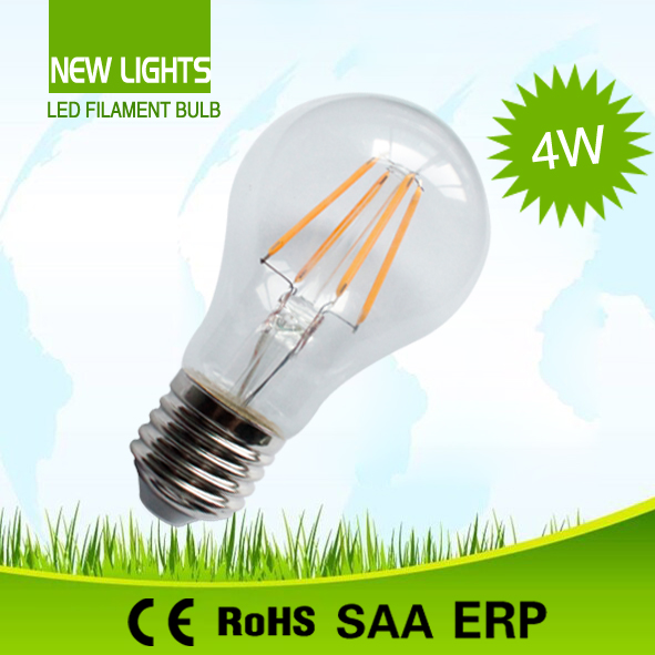 4w A60 led filament lamp manufacture made in china