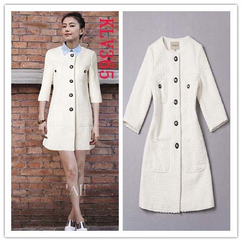 9728c9b692637 Women White Trench Coat Knee Length Long Winter Wool Coat Wholesale ...