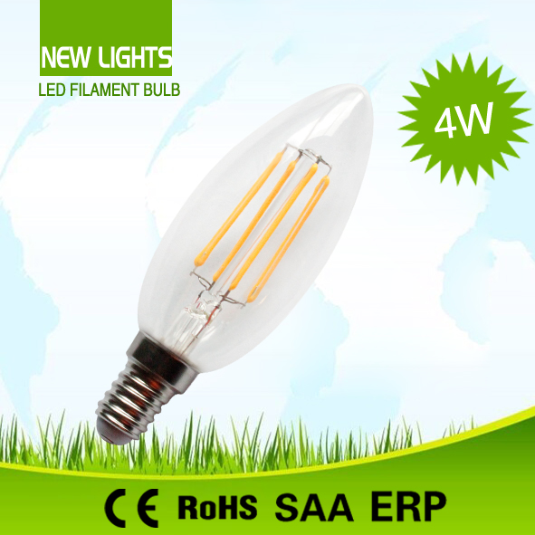 led bulbs lighting candle 4w 2700k-6500k Glass cover