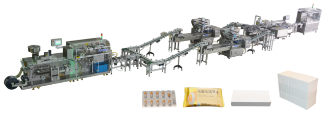 Blister/Pillow Packing/Cartoner/Stretch-Banding Line