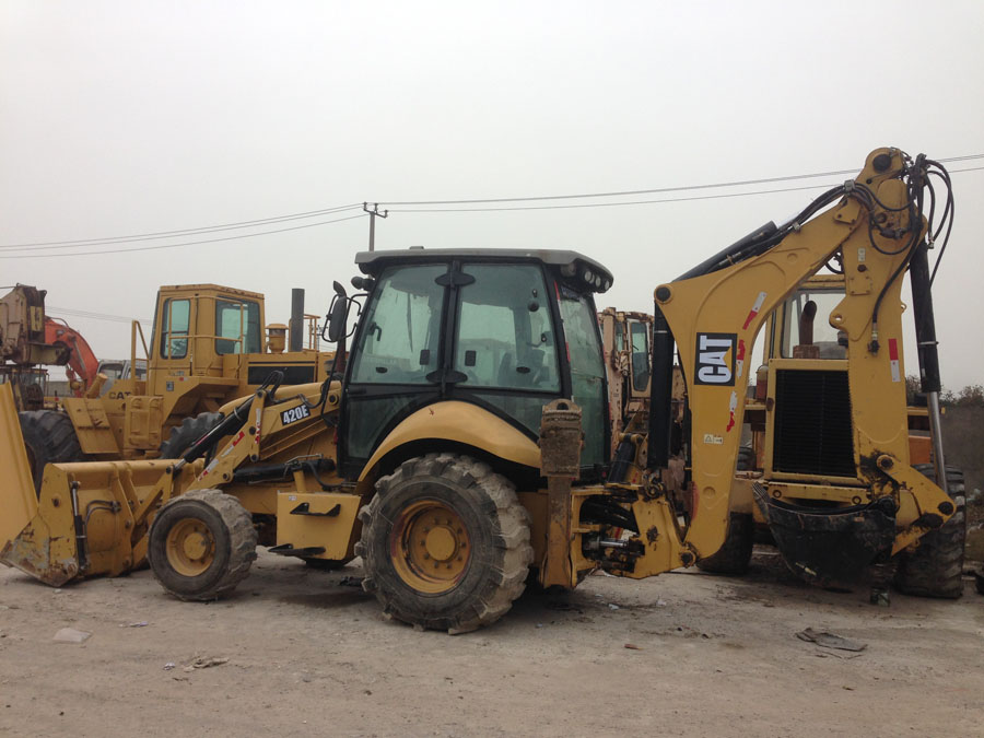 Used CAT backhoe loader cat 420e backhoe