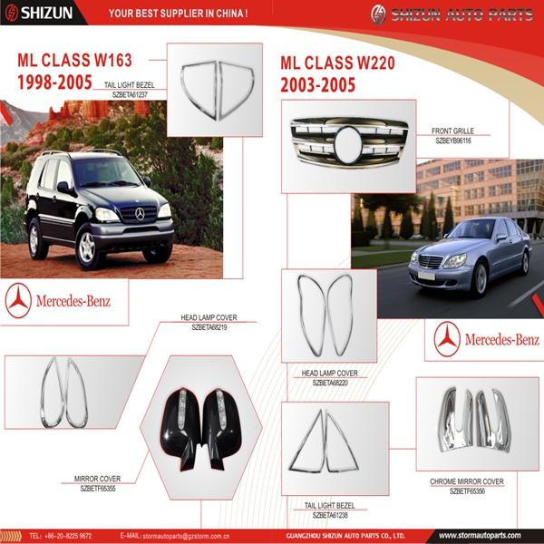 Mercedes Benz Car Parts ML CLASS W163 W220 Car Accessories From SHIZUN