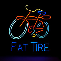 New MN13 Fat Tire Bicycle neon sign neon light advertising equipment for store display.