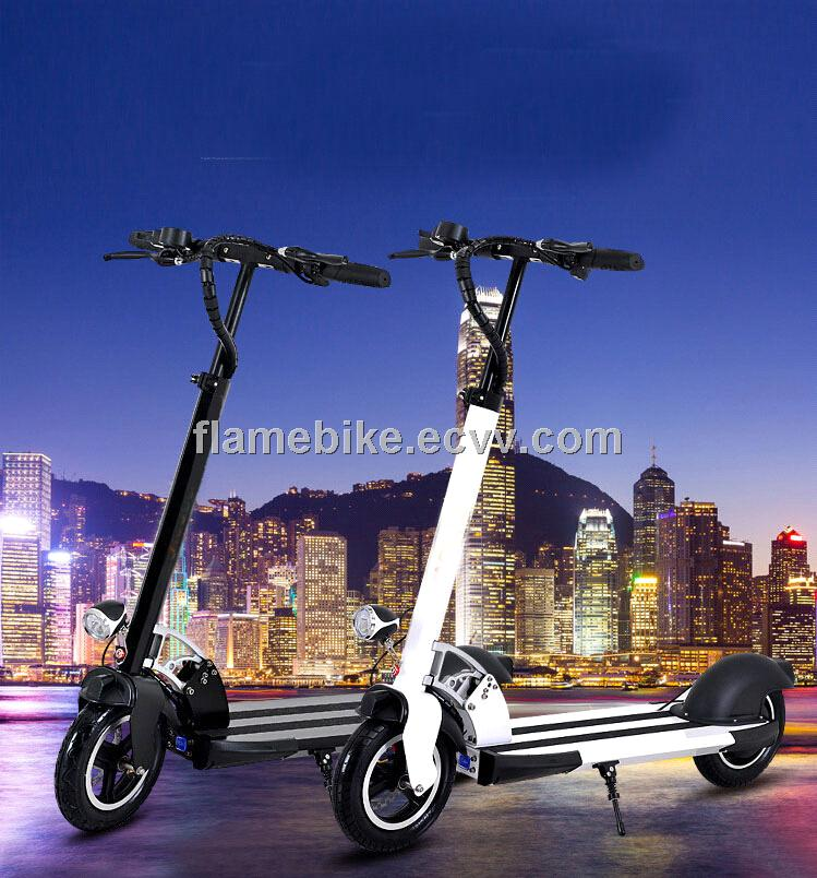 Aluminum Electric Scooter  with 2 Wheel with 400W 36V/10.5AH 10 inch wheels