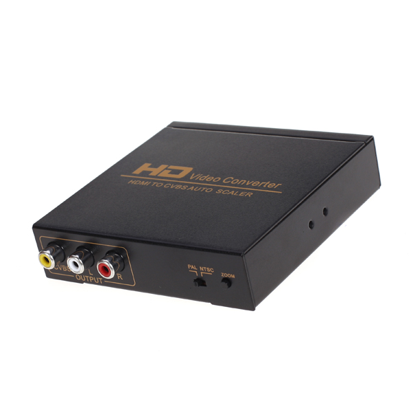 HDMI to CVBS (AV) Composite Video Converter, Plug-and-play Function