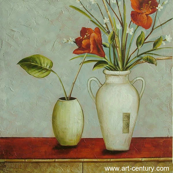 Canvas flower painting for home decoration