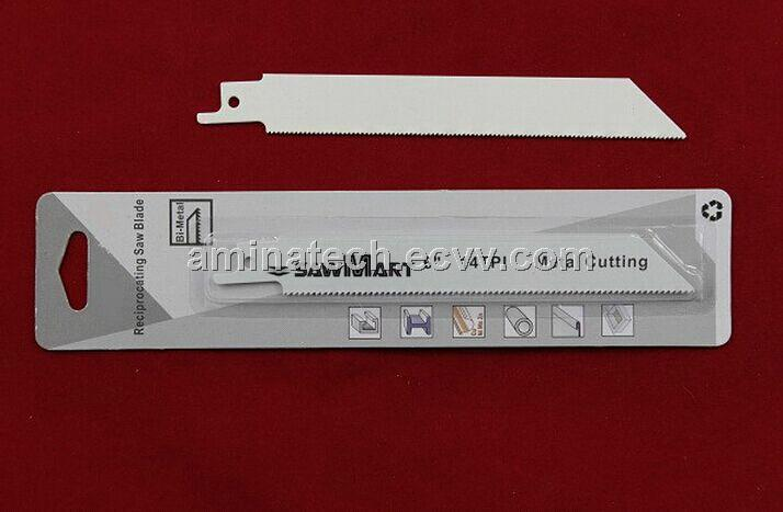 High speed steel reciprocating saw blades for cutting metal