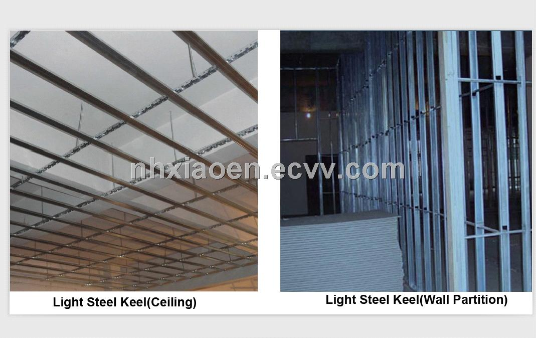 Light steel keel for partition wall/ ceiling/floor