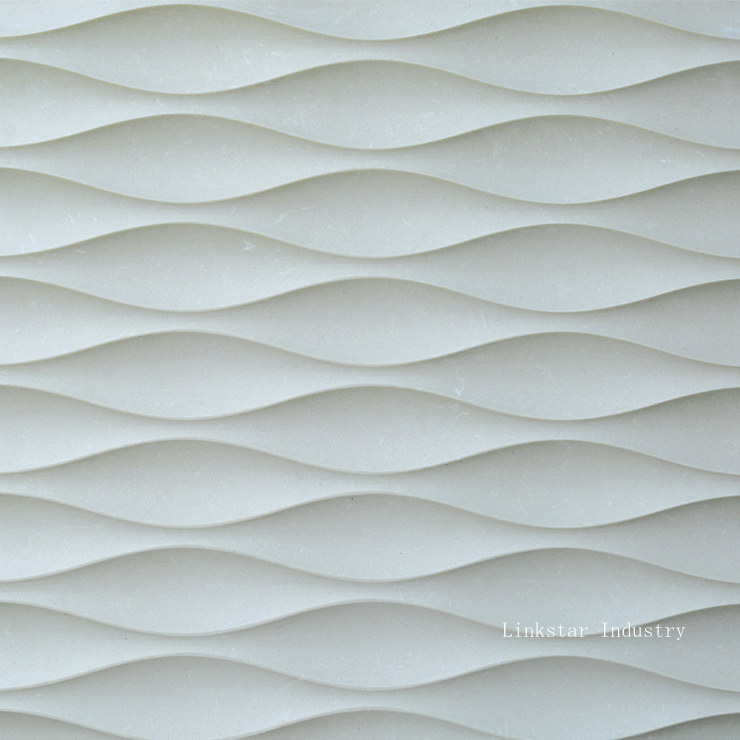 3D wavy stone wall art tile pattern purchasing, souring agent | ECVV ...