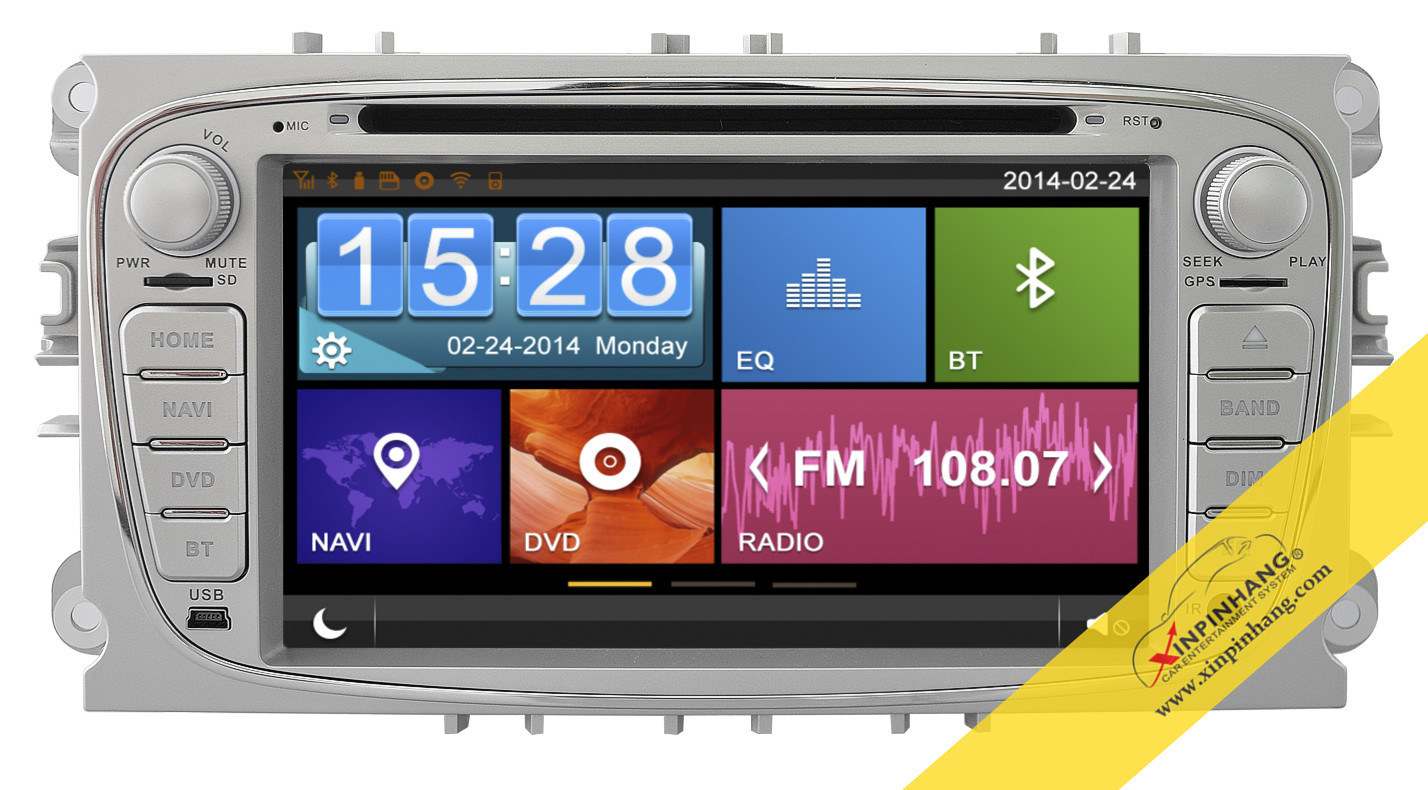 Capacitive Touch Screen Car DVD Player for FORD Mondeo with 3G/WIFI/DVR/Mirror Link Function