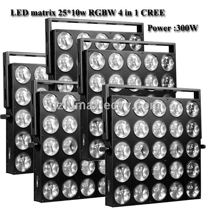 LED matrix 25*10w RGBW 300w 4 in 1 CREE LED Washer Light