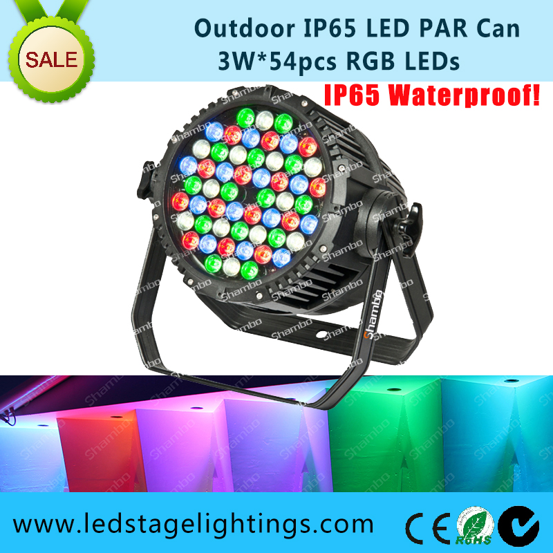 CE Approved,IP65 LED Stage Par light 54*3W RGBW,China professional Stage Lighting