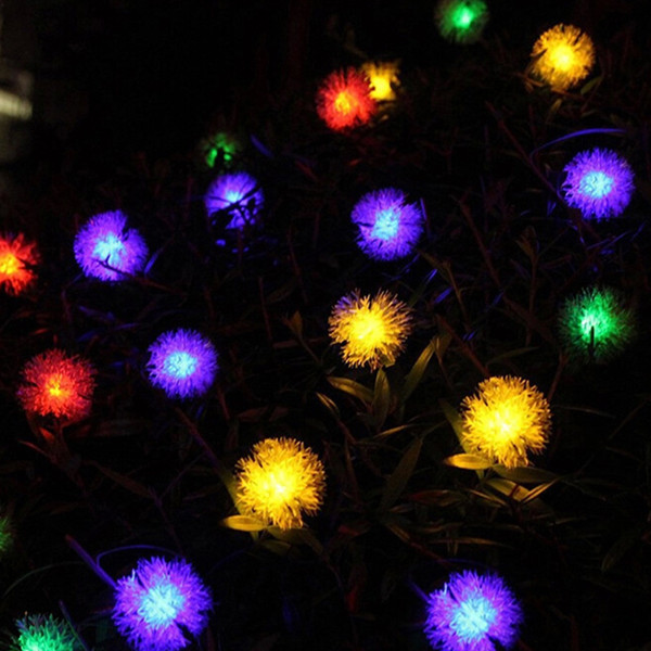 Outdoor Solar Light String 20 LED White Warm Color Light  Festival Decoration Solar Light String