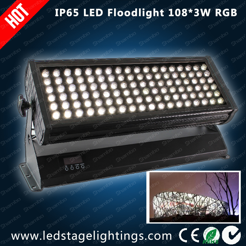 CE Approved,DMX LED flood light 108pcs*3W RGB,LED wall light