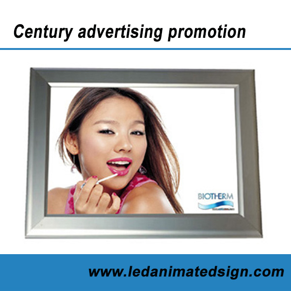 Advertising led animated super slim aluminum photo frame