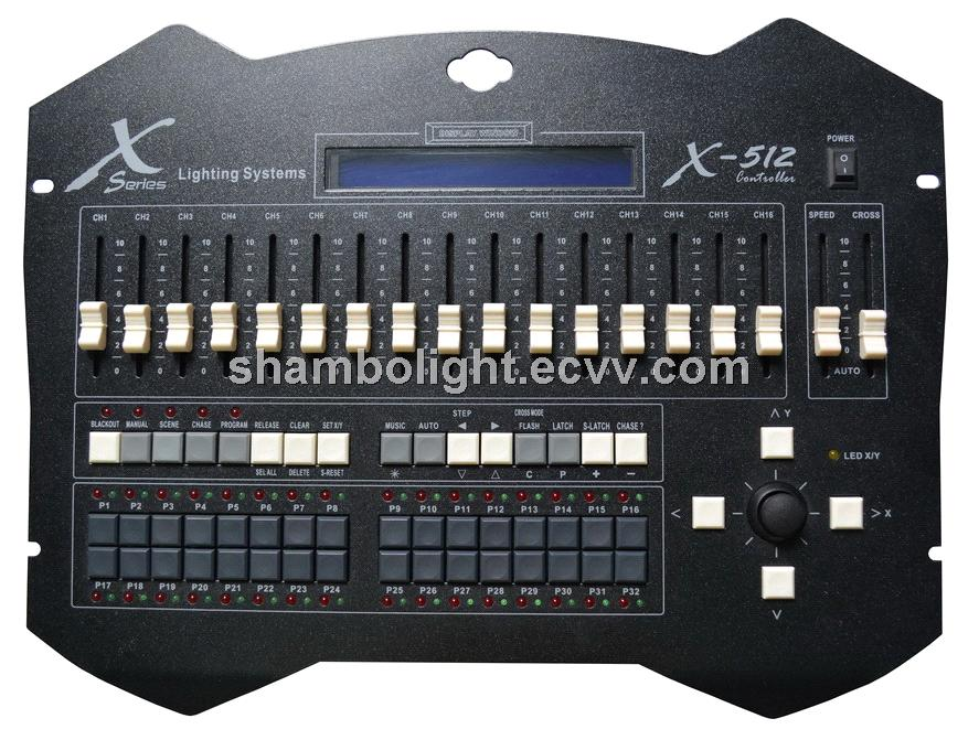 DMX Controller X-512,DMX512 controller,Moving head controller,Stage