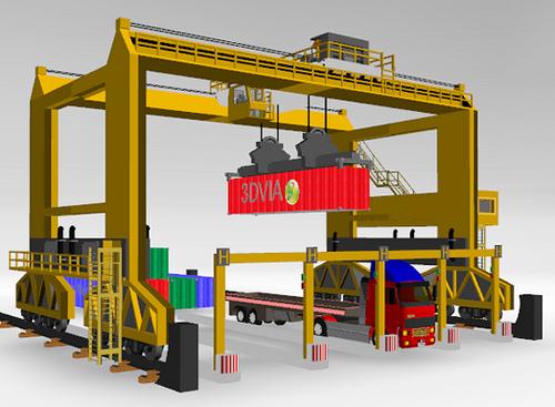 RTG type rubber tyre gantry crane 42 ton