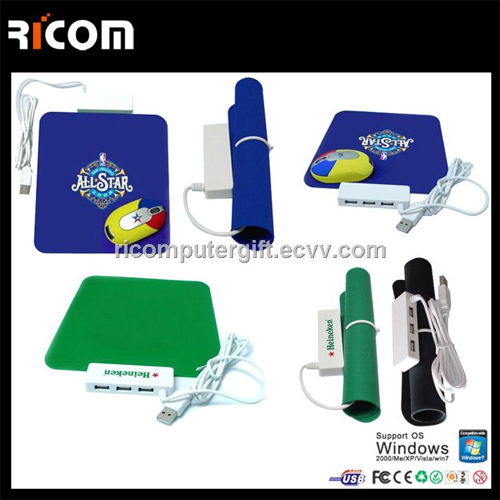 luxury gift set,usb hub mouse pad and wireless mouse set,office stationery gift set