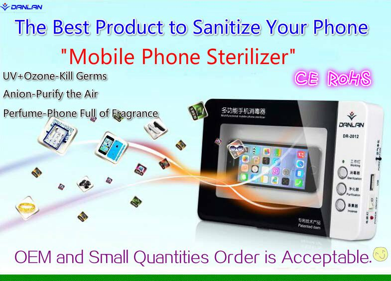 CE RoHS certified Mobile Phone Sterilizer UV Cell phone Sanitizer Disinfector,UV Ozone Sterilizer