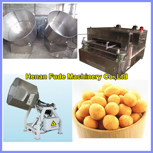 Flour coated peanut snack processing machine