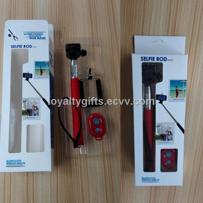 Hot Selling Selfie Stick with Bluetooth Shutter Button, Selfie Monopod Bluetooth