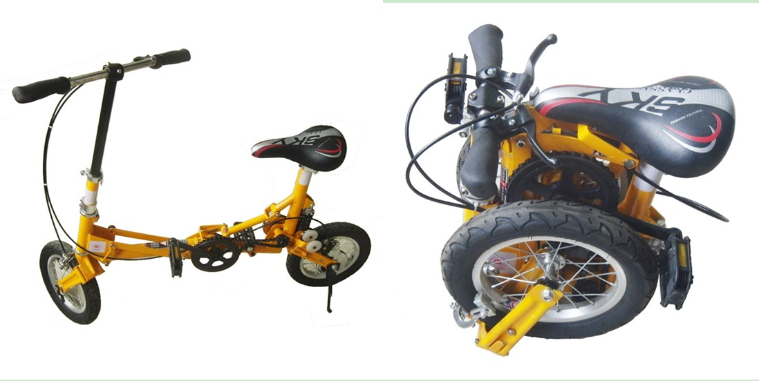 the smallest NEW design Foldable bicycle folding bike 12 inch wheel(DR-BK-01)