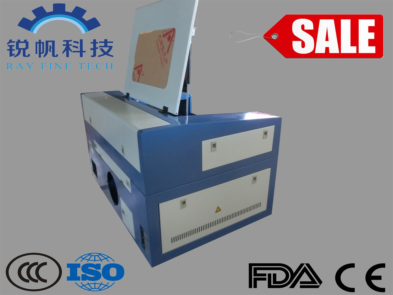 Mini Desktop Laser Cutter Machine RF-5030-CO2-50W with Red Dot Pointer