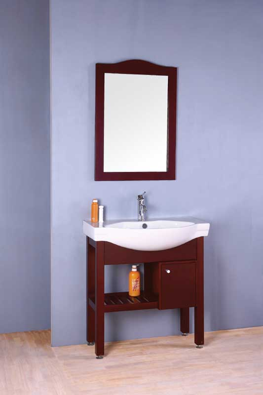 Classic oak bathroom cabinet with mirror OGX052