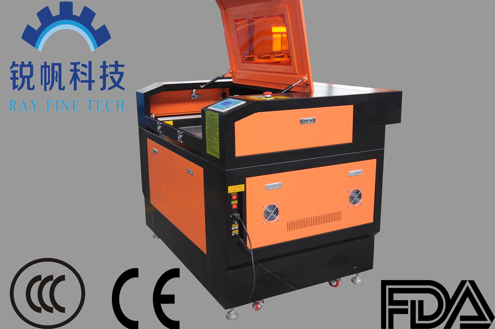 Full image laser cutting machine RF--6090-co2-80W with high speed