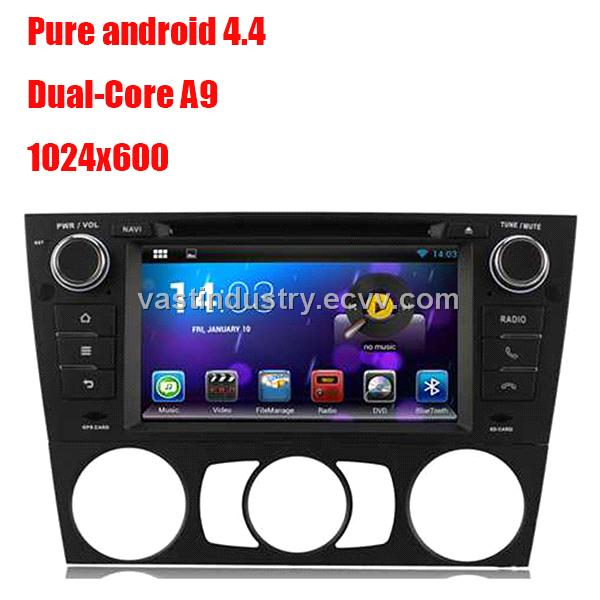 Android4.4 car dvd player with 1024 * 600 resolution for BMW E90 with mirror link DVR