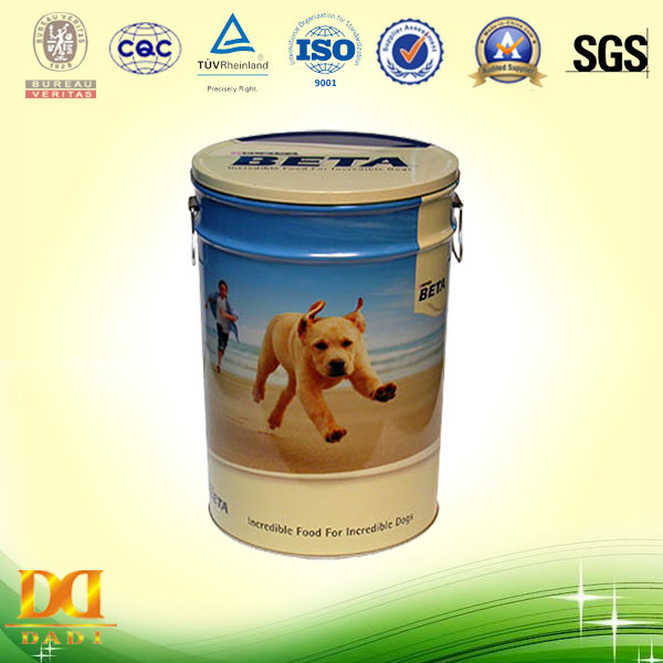 Puppy Food Storage Tin Can