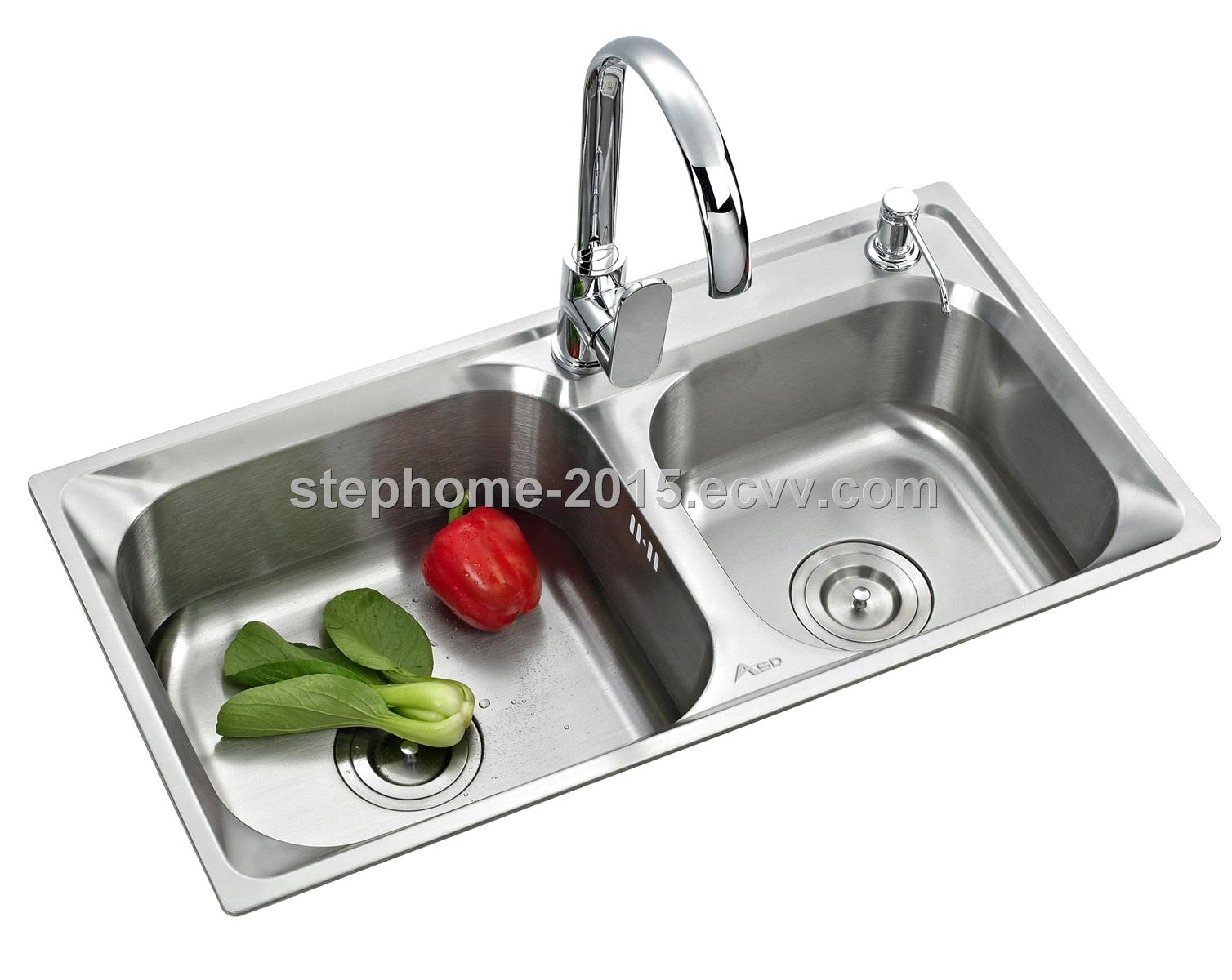 Double Bowls Stainless Steel Kitchen Sink with Good designd(Model no.:7842A)