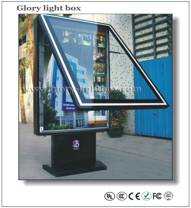 Vertical Roll Up Poster Frame Led Light Box Advertising Purchasing